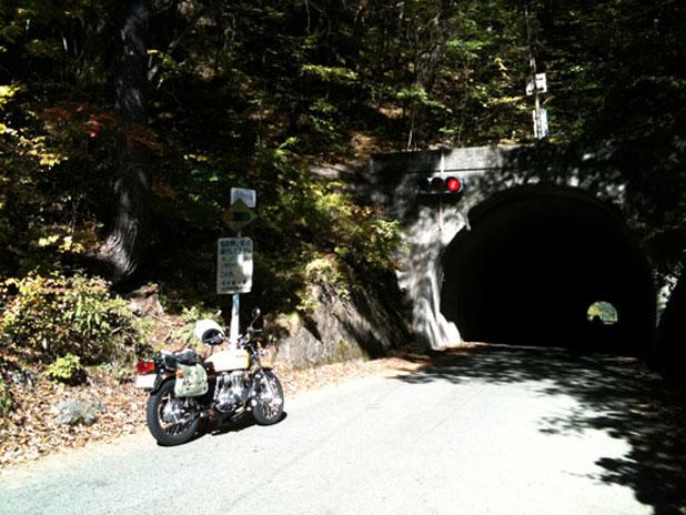 青木峠のトンネル