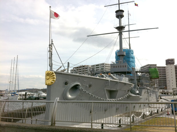 戦艦三笠の雄姿