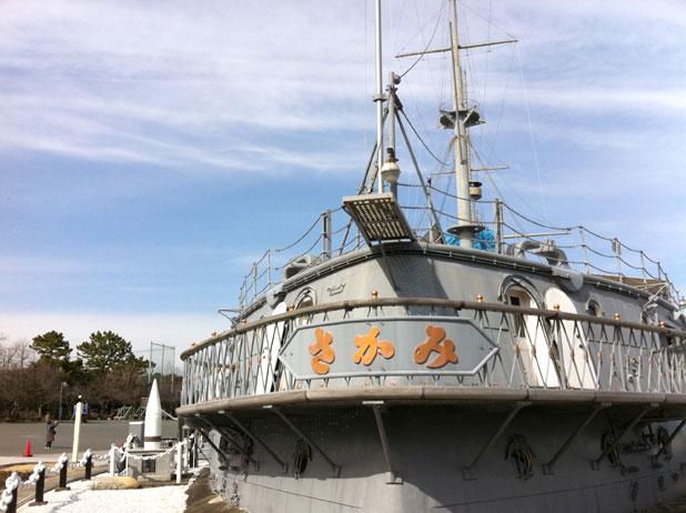 戦艦三笠の最後部